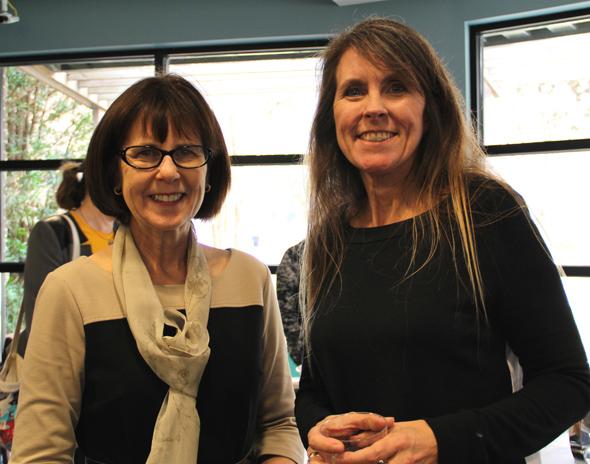 2016 LIFE @ UCF Celebration.  L to R:  Debbie Reinhart and Debbie Hahs-Vaughn