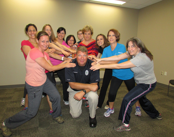 Women's Self Defense Class with UCF Women Faculty and Staff lead by Officer Peter Stephens