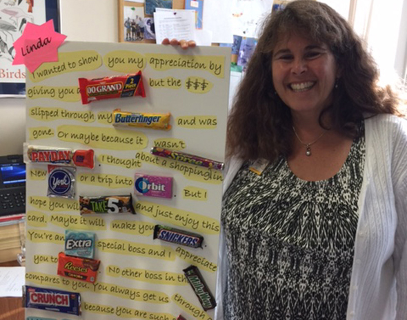 National Boss's Day - Dr. Linda Walters Candy Card